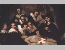 Edouard Manet: La Lecon d'anatomie du d Tulp d'apres Rembrandt (ca. 1856)