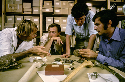 Four great paleoanthropologists