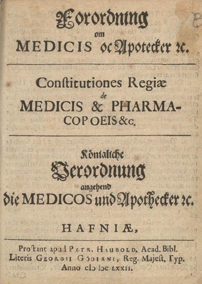 Christian 5's forordning, side 1